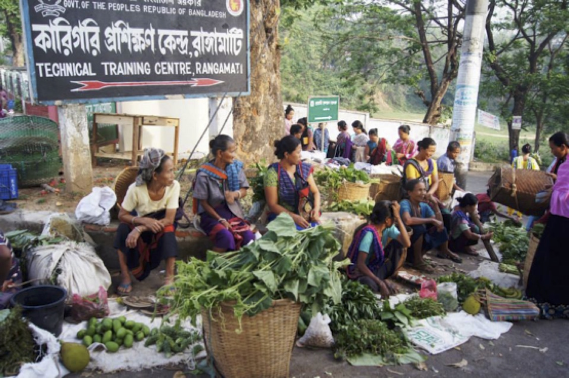 Market in the Chittagong Hill Tracts