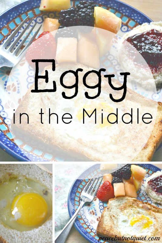 "It's a silly name for a fun, simple breakfast your kids will love! Two ingredients and five minutes are all it takes to make ""Eggy in the Middle."" And because everything cooks up together, it's a great camping recipe, too!"