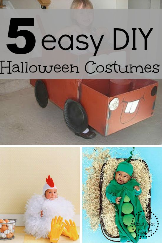 Looking for last-minute (or just easy!) DIY Halloween costumes? These are great for kids and super-simple!