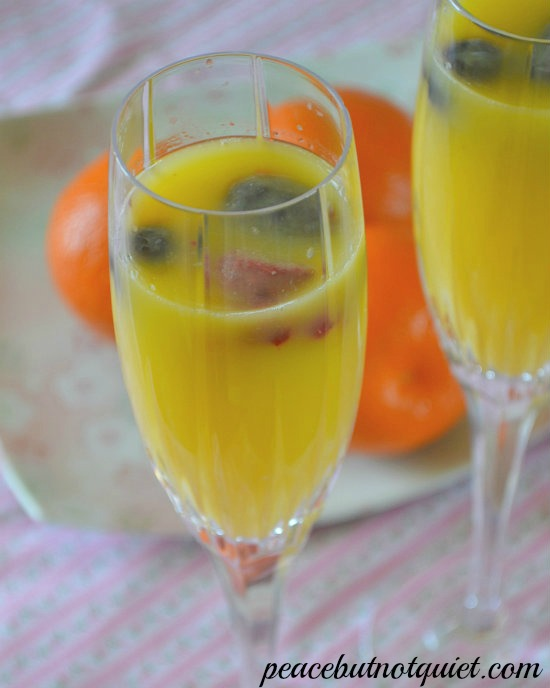 Non-Alcoholic Mimosas