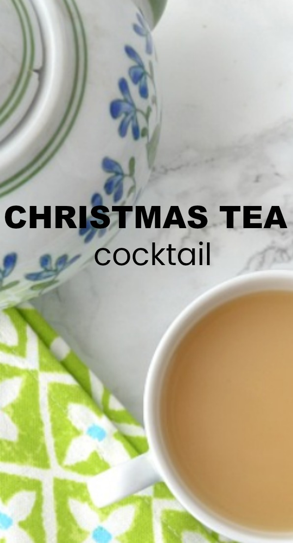 A delicious Christmas tea...with some booze to REALLY warm things up!