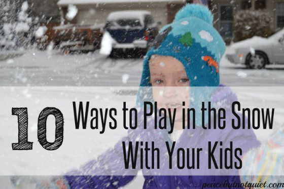 kids play in the snow
