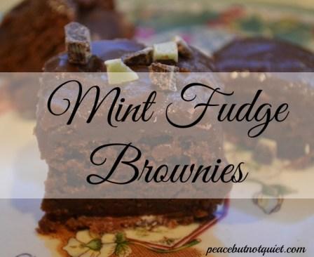 mint brownies, fudge