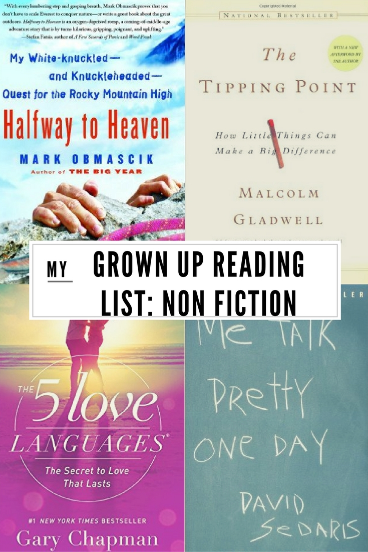 GROWN UP READING LIST- Non Fiction