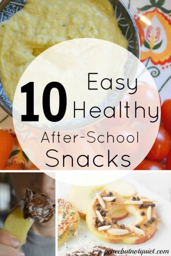 10 Easy After School Snacks