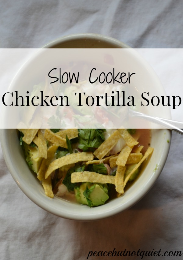 Slow Cooker Tortilla Soup title
