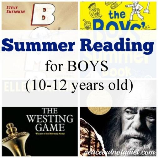 Summer Reading for boys