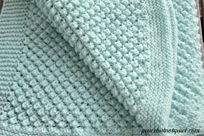 Easy Knitting Patterns -- Popcorn Baby Blanket Peace but Not Quiet