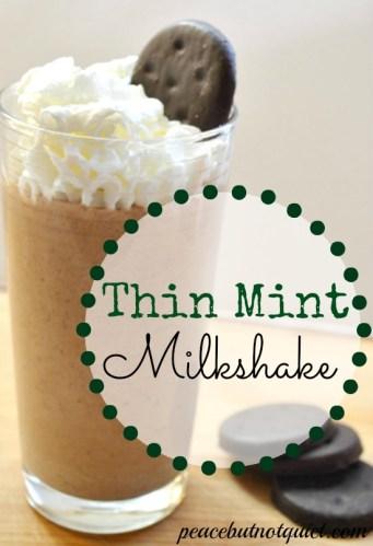 Thin Mint Milkshake Recipe