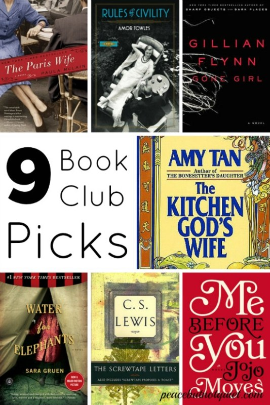 9 good books for book clubs