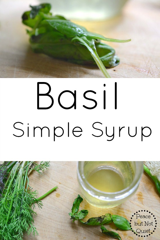 Got a basil plant? This basil simple syrup recipe is easy and wonderful for summer cocktails!