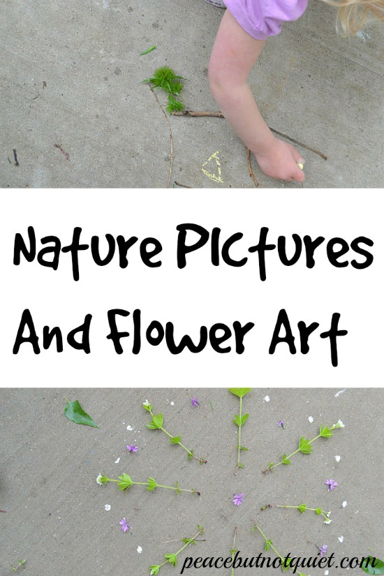 Looking for a fun, creative outdoor activity for the kids? This flower art requires no materials except what you find around you! (and maybe a camera, to preserve your masterpiece)