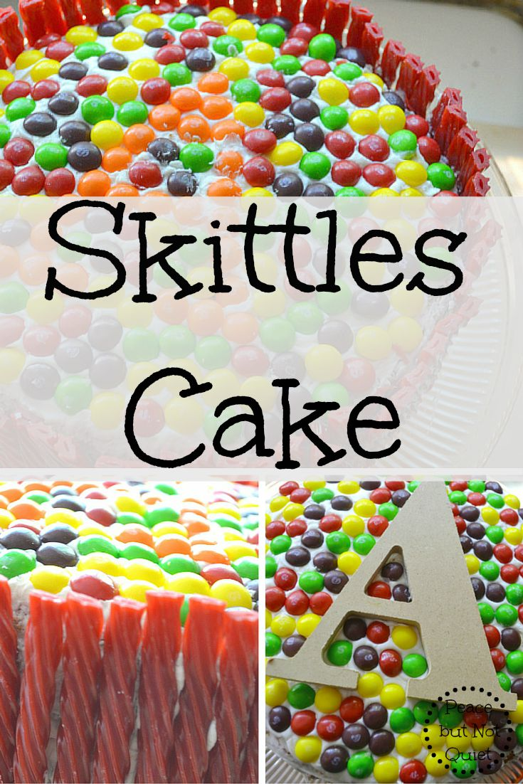 Colorful and delicious, this Skittles cake is sure to be a hit at your next party -- and is surprisingly easy to make!