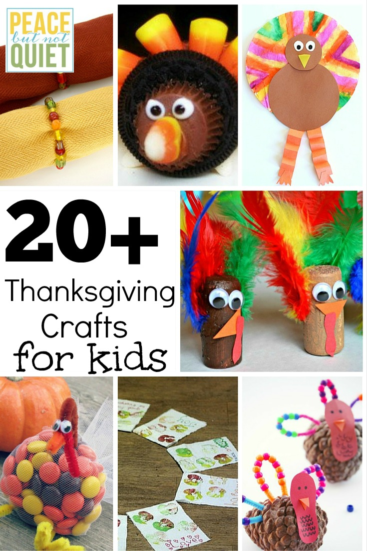 21 Thanksgiving Crafts for Kids -- fun ways to keep the kids entertained on Thanksgiving Day!