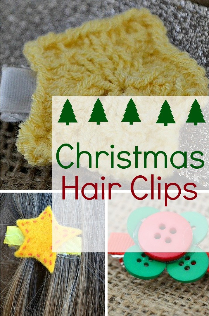 easy holiday hair clips craft