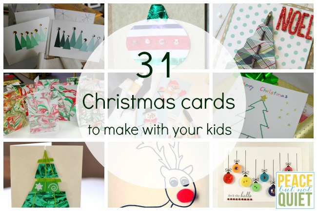 31 Christmas Cards to Make With Your Kids