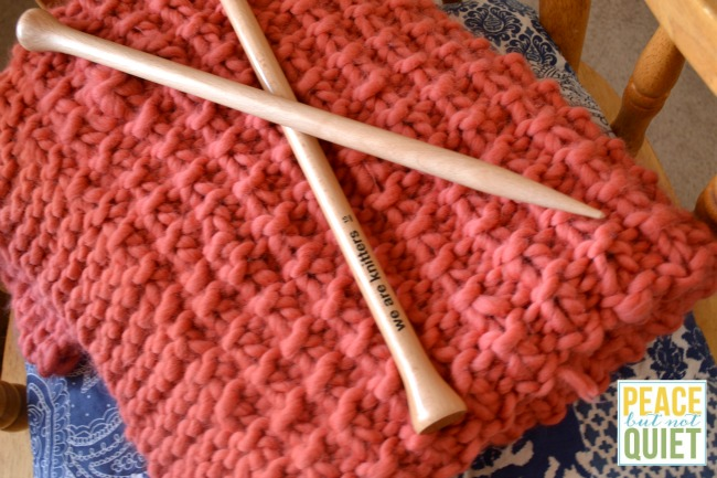 This We Are Knitters knitting kit is fun and ends with a beautiful handknit blanket!