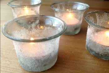 Beautiful Snow Crystal Votives to Make With Your Kids