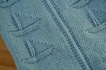 Sailboat Baby Blanket Knitting Pattern
