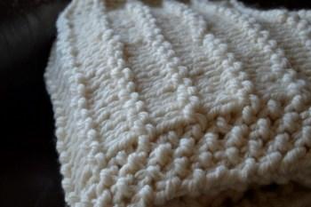 A Chunky Garter Stripe Blanket Knitting Pattern