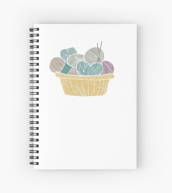 Basket of Yarn Knitting Notebook