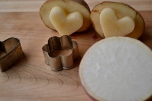 How to make creative and easy vegetable stamps