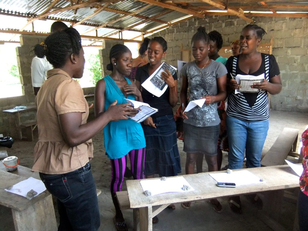 Post-ebola enterprise training in Liberia
