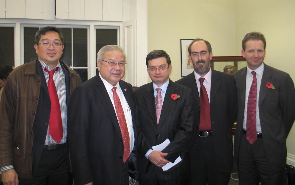 Mindanao Peace Initiative Briefing - Gene Alcantara, Ambassador Antonio Lagdameo, Massimo Trombin, Charles Hardie, Robin Marsh
