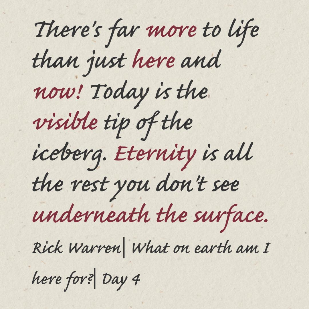 Purpose Driven Life Day 4 6