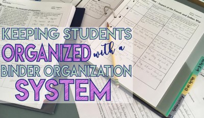 Keeping Students Organized With a Binder Organization System