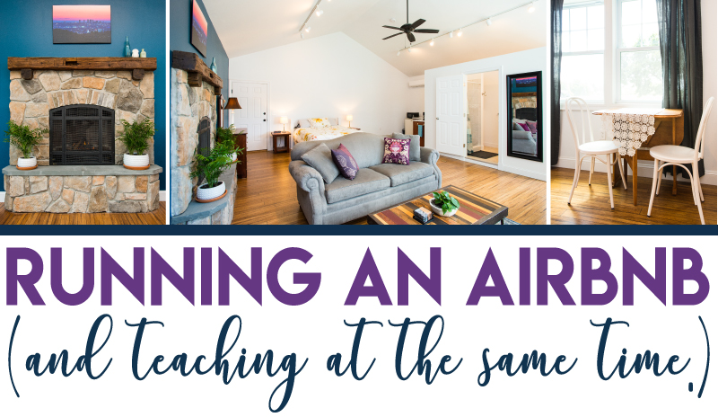 Running and Airbnb and Teaching