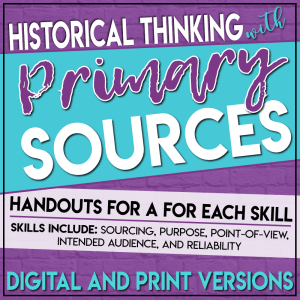 Primary source analysis handouts