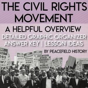 The Civil Rights Movement Graphic Organizer Cover