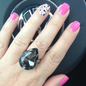 Ginormous ring from Old Navy, for a teeny tiny price.