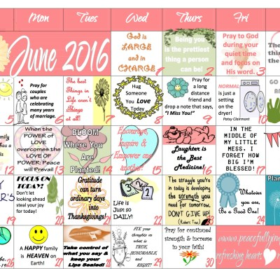 Your complimentary June 2016 calendar is here!