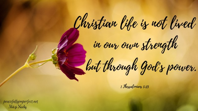 Christian life is not lived