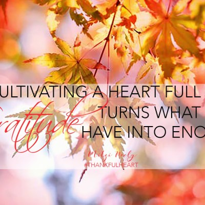 The Importance of Cultivating a Thankful Heart