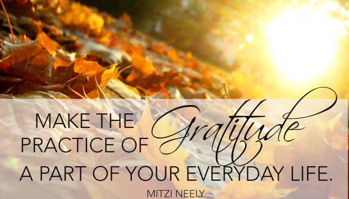 Thanksgiving Is Not Just a Day, It is a Way of Life