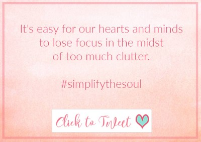 Do you simplify your life?
