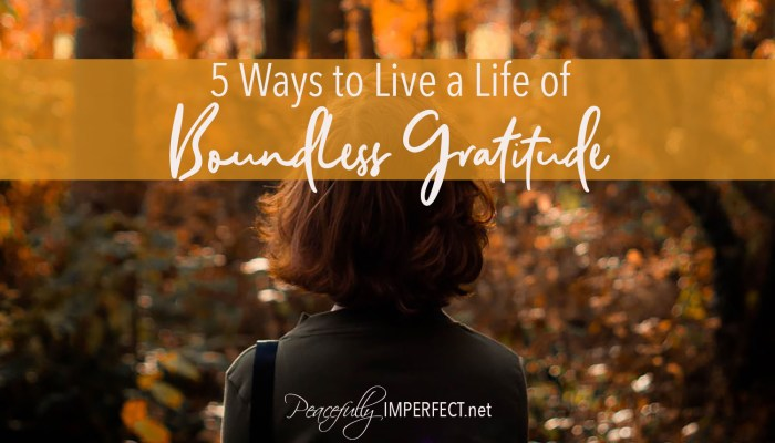 5 Ways to Live a Life of Boundless Gratitude