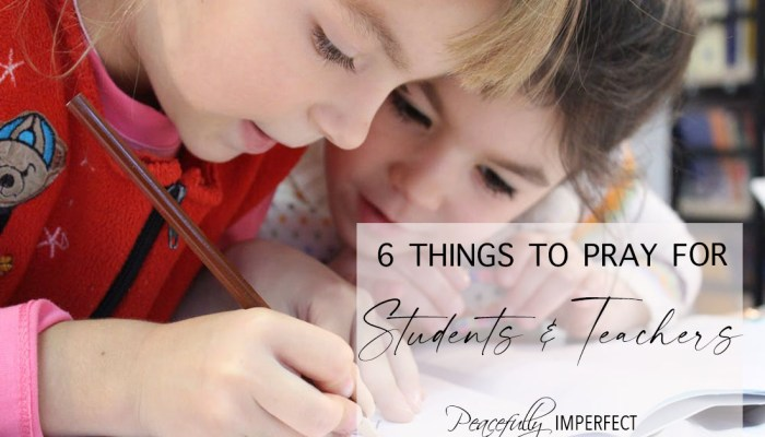 Six Things to Pray for Students and Teachers