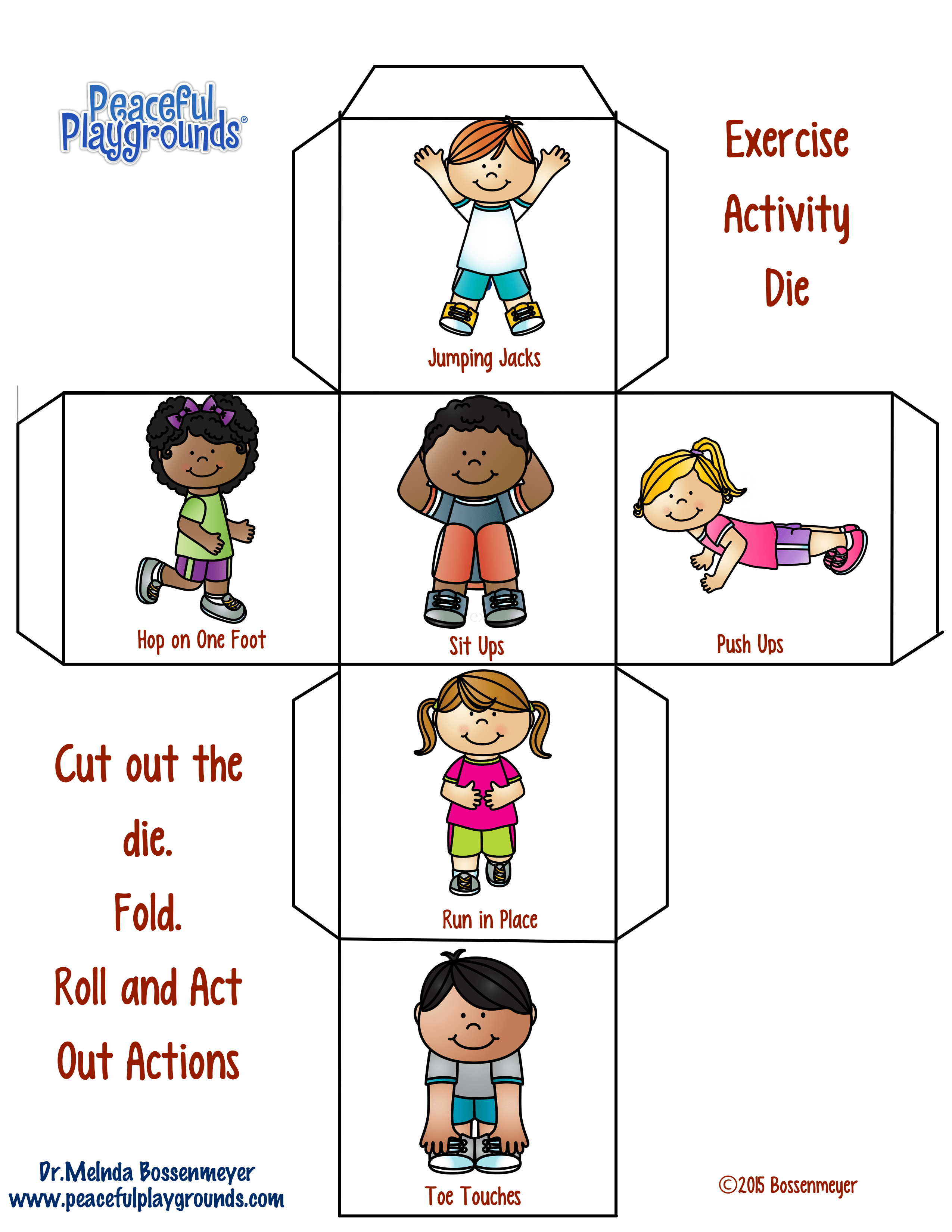 Exercise Game Dice Peaceful Playgrounds