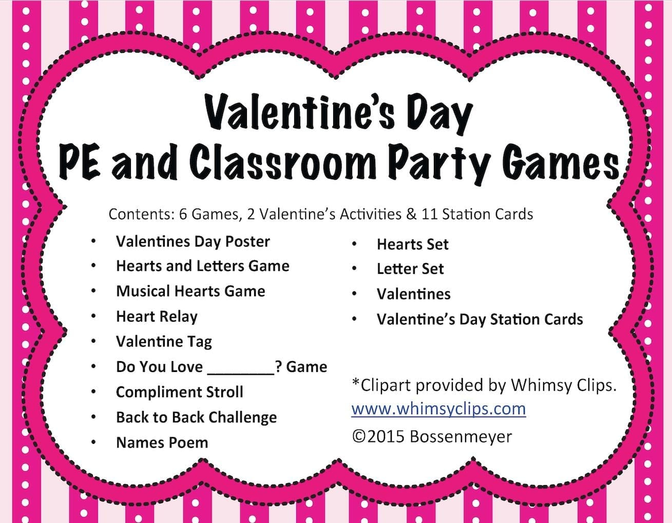 Valentines Day PE And Classroom Party Games Peaceful