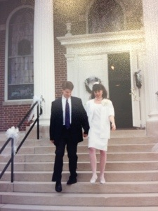 Leaving the church on our wedding day - May 28, 1994