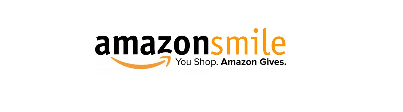 The logo for Amazon smile and how you can support the Peace House in Park City by simply shopping