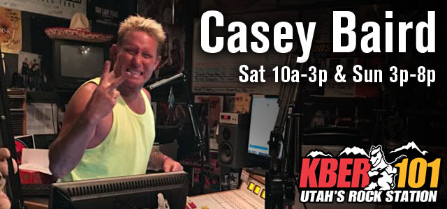 A picture of Casey Baird from the KBER 101 rock radio station