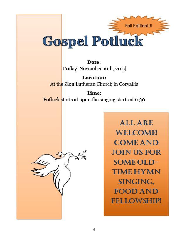 Gospel Potluck