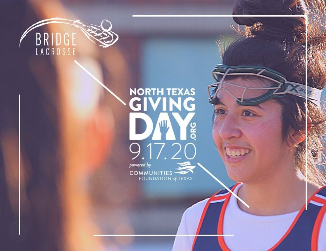 Peace Lacrosse to support Bridge Lacrosse for North Texas Giving Day