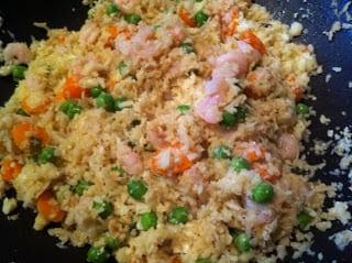 """Shrimp Fried Cauliflower """"Rice"""""""