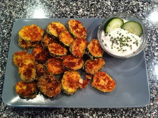Almond Parmesan Crusted Zucchini Crisps